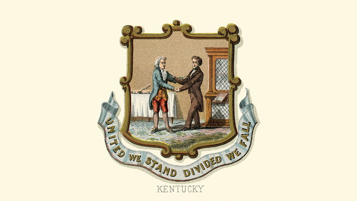 the Kentucky coat of arms