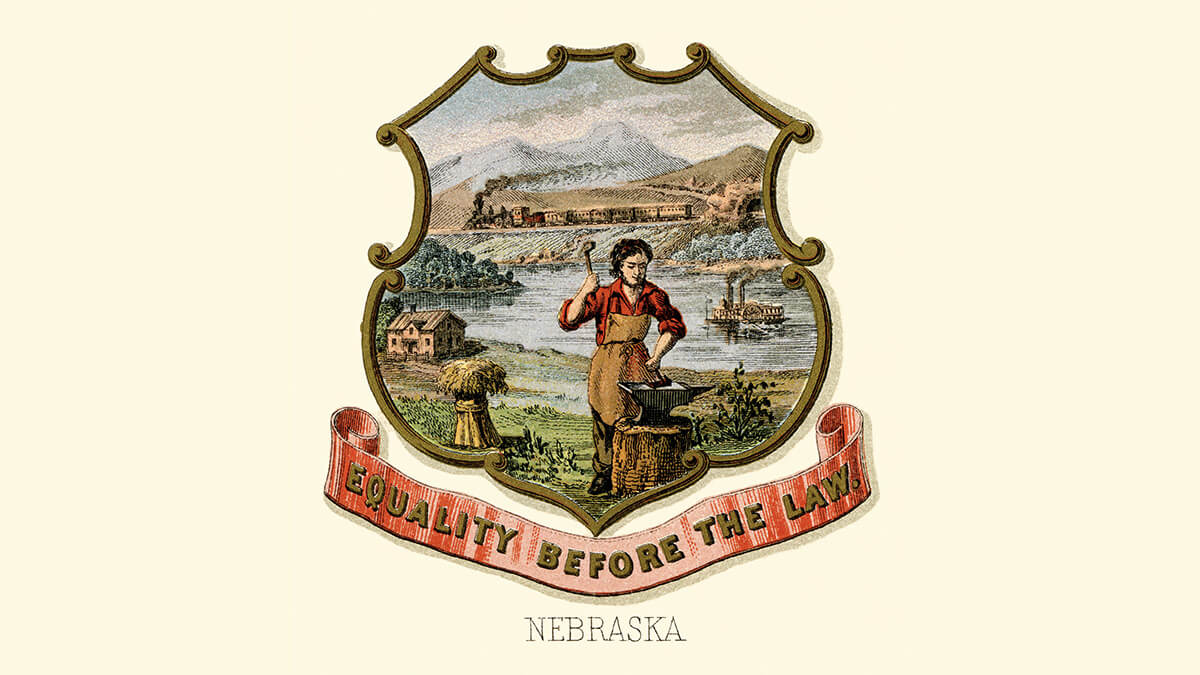 the Nebraska coat of arms