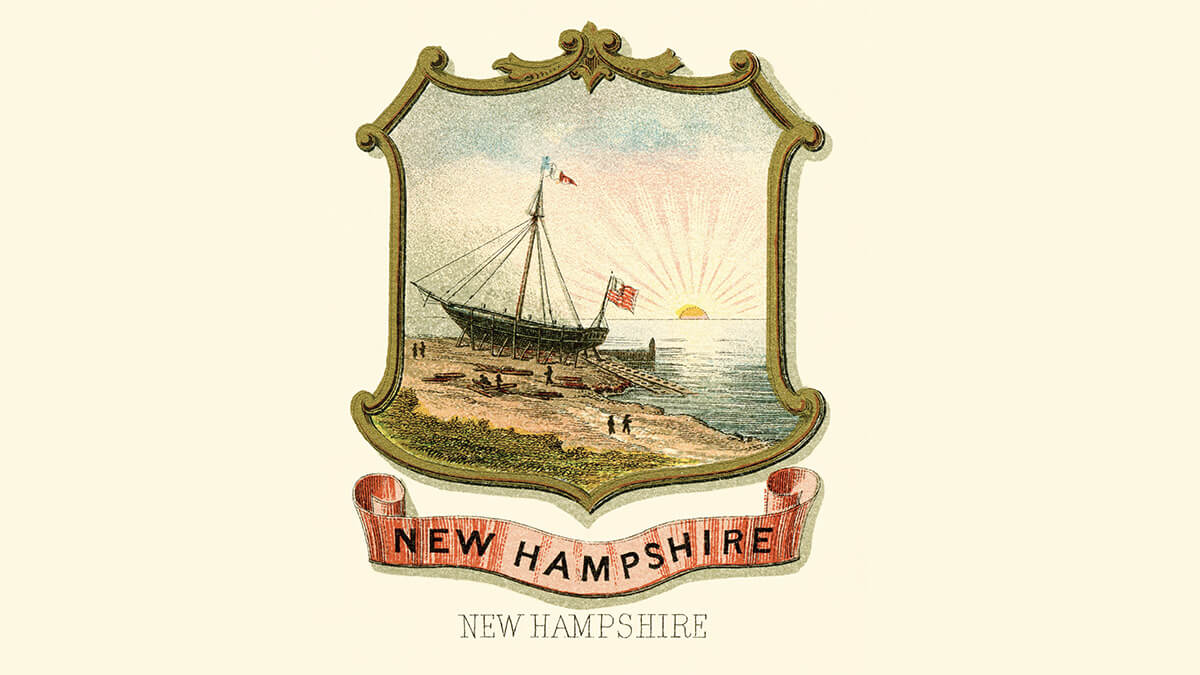 the New Hampshire coat of arms