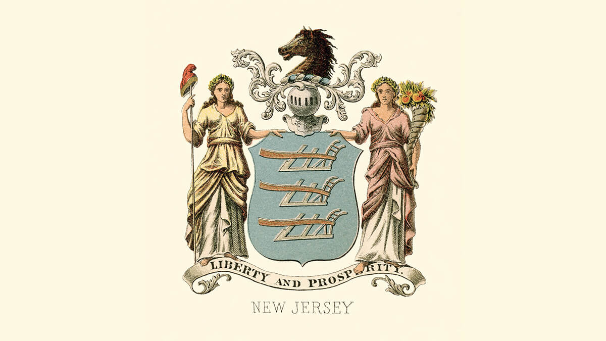 the New Jersey coat of arms