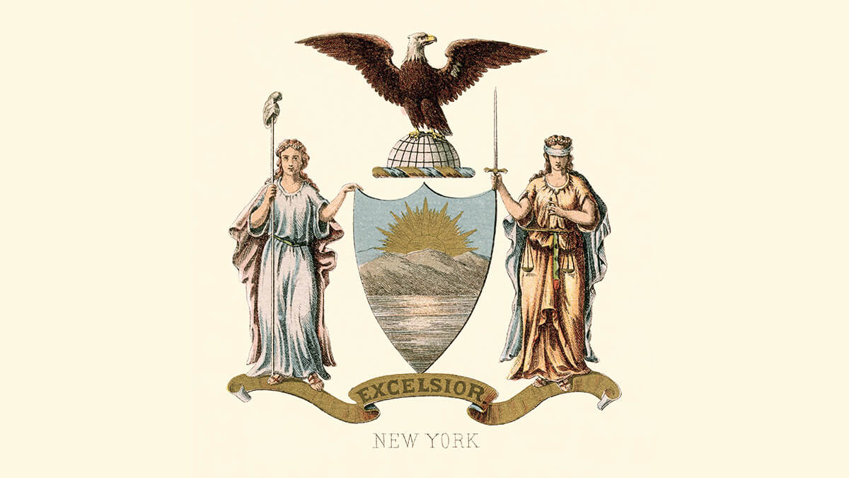 the New York coat of arms