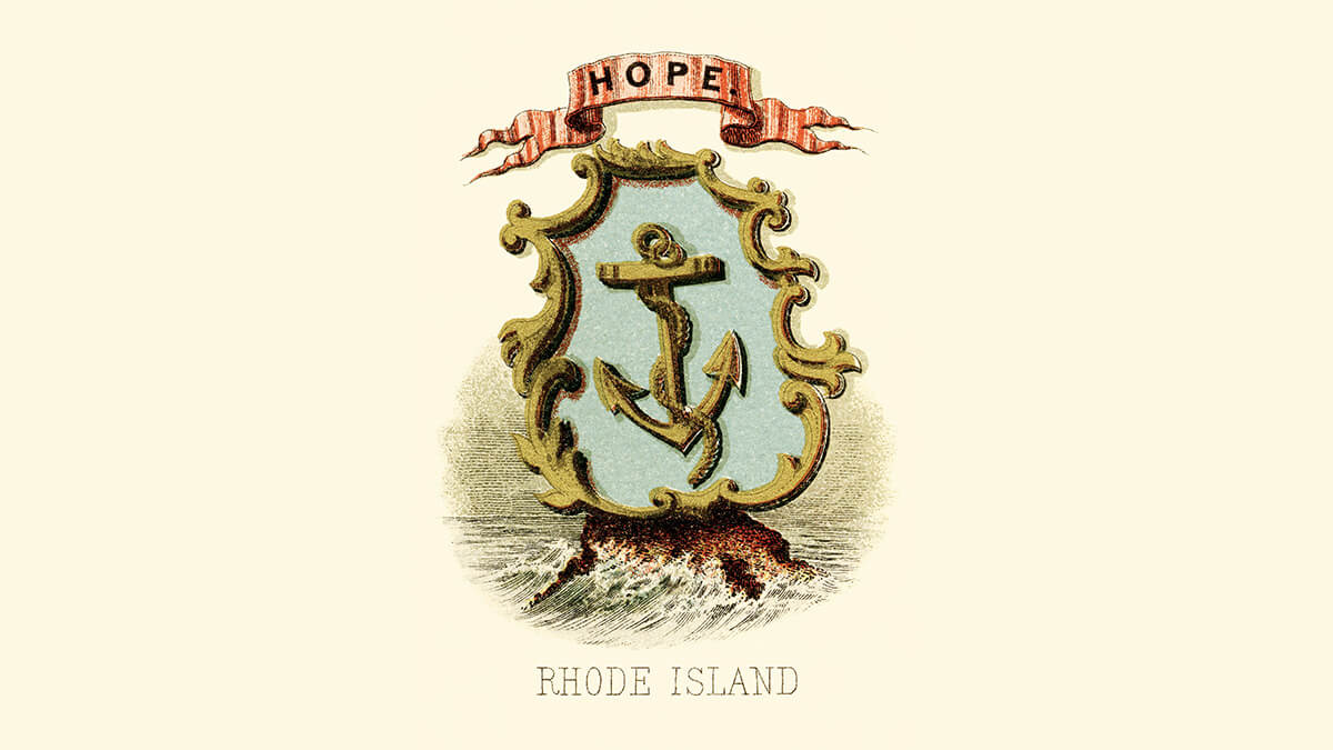 the Rhode Island coat of arms