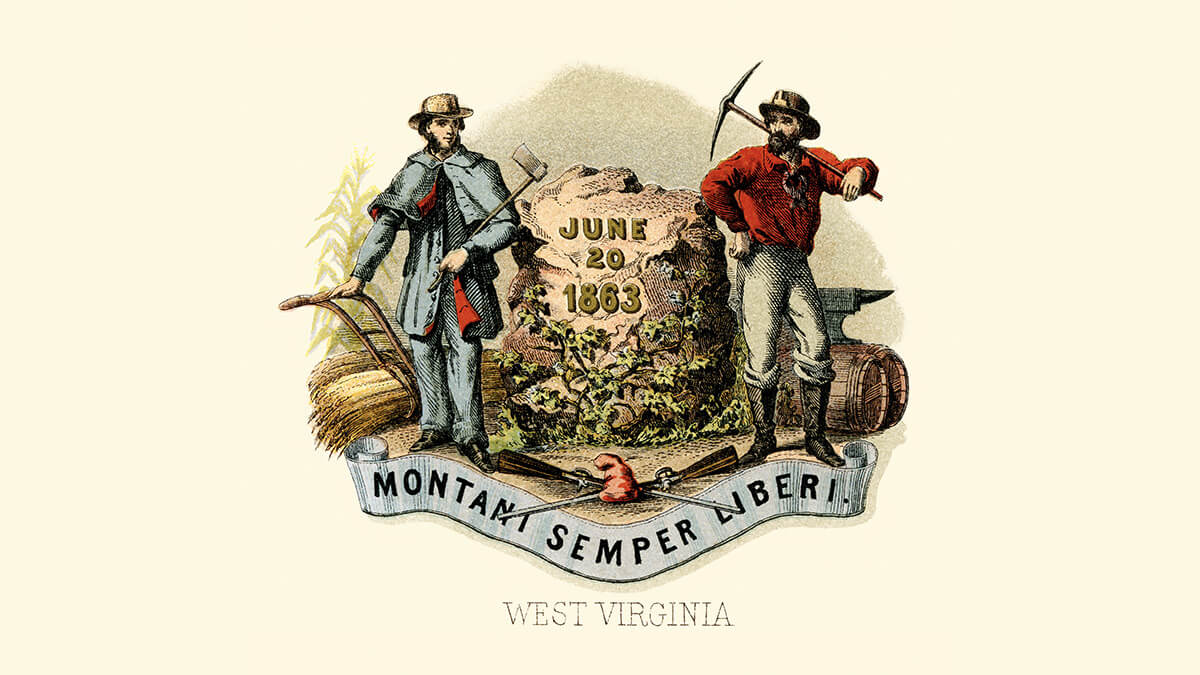the West Virginia coat of arms